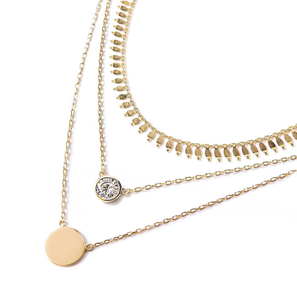 Cleo Solitaire Coin Layered Trio