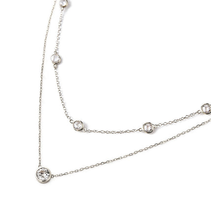 Crystal Chain Solitaire Layered Duo