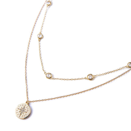 Crystal Chain Star Disc Layered Duo