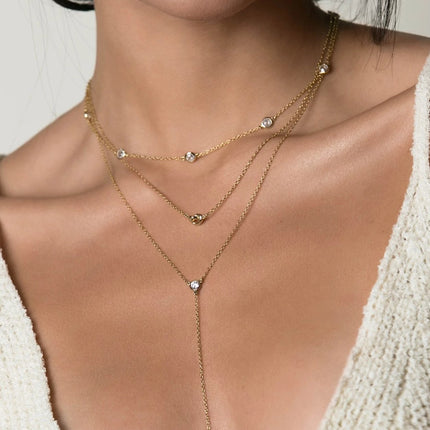 Crystal Knot Lariat Layered Trio