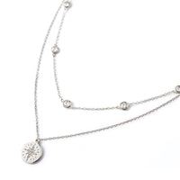 sterling silver two strand necklace