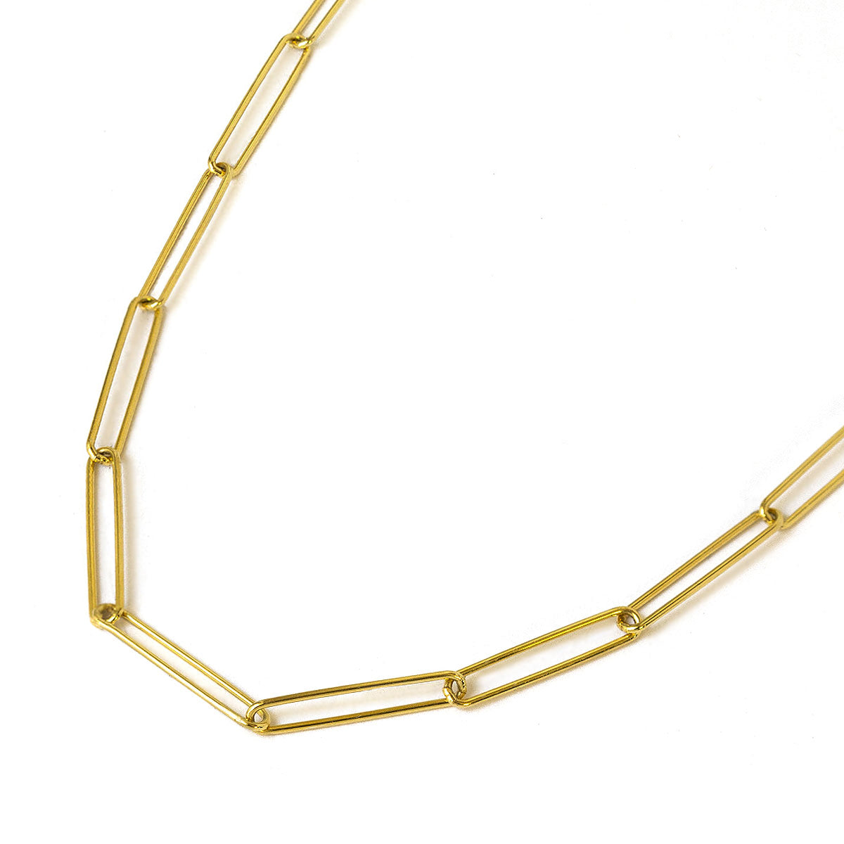Gold Vermeil Long Link Chain Necklace