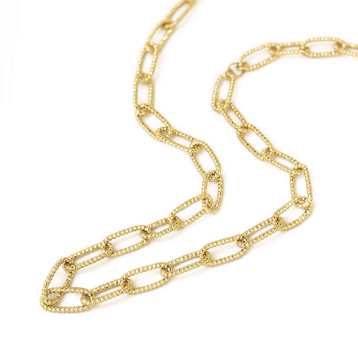 Textured Gold Chunky Link Chain Necklace