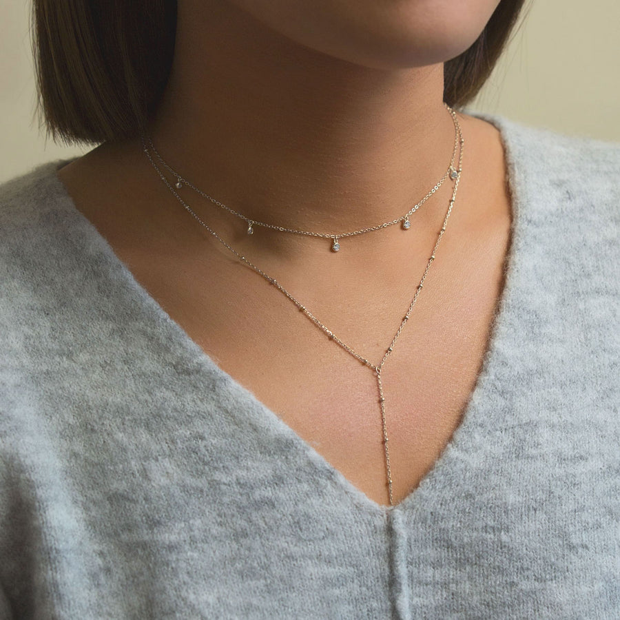 Bead Chain Lariat Necklace