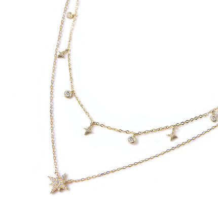 Stella Star Dangle Layered Duo