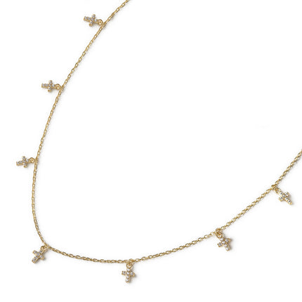 Cross Dangle Necklace