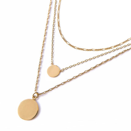 Figaro Disc Trio Necklace