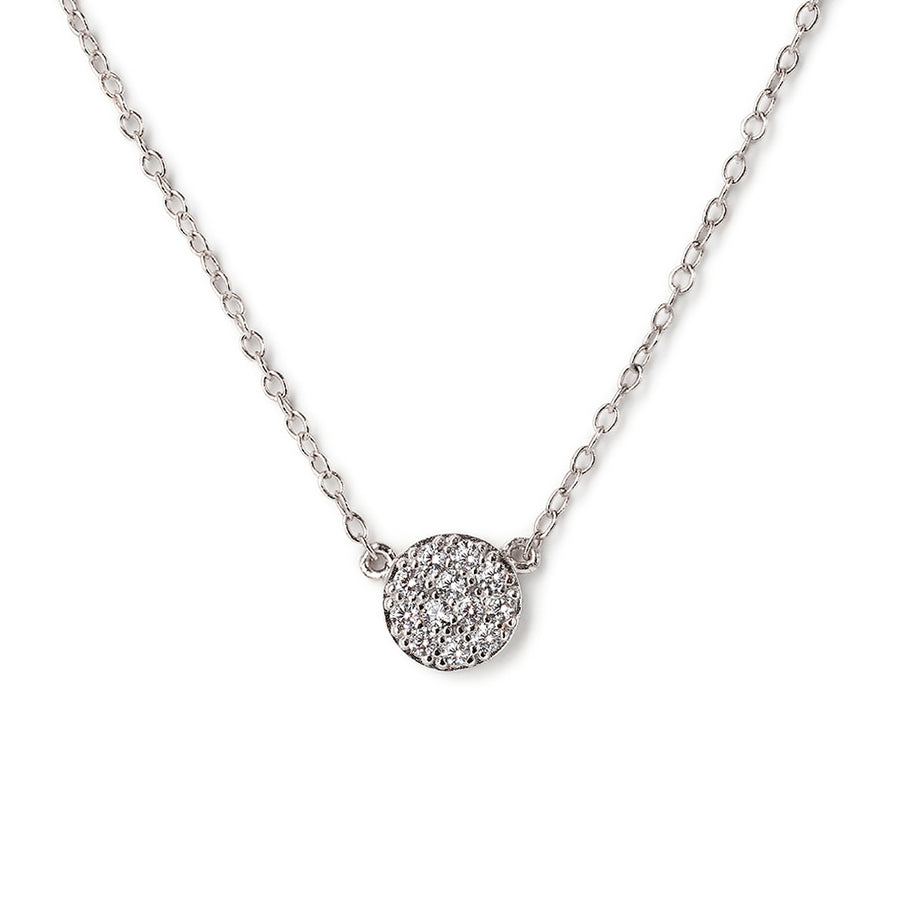 caption:Pave Disc Necklace