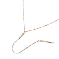 Gold Pave Bar Lariat Necklace