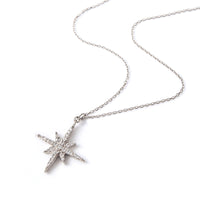 Sterling Silver Starburst Pendant Necklace