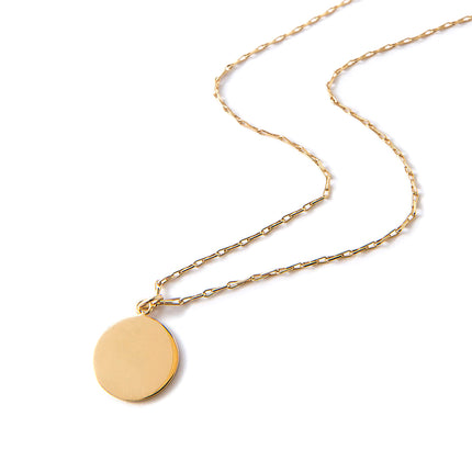 Fancy Disc Necklace