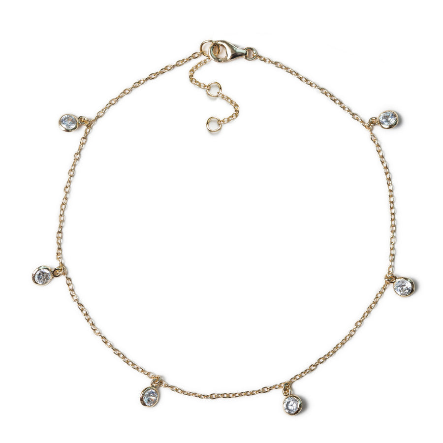 Dakota Dangle Anklet, Anklets - AMY O. Jewelry