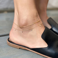 Dakota Tiny Dangle Anklet