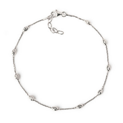 Faceted Oval Bead Anklet