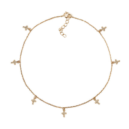 Tiny Cross Anklet
