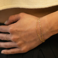 Double Layered Chain Bracelet, Bracelets - AMY O. Jewelry