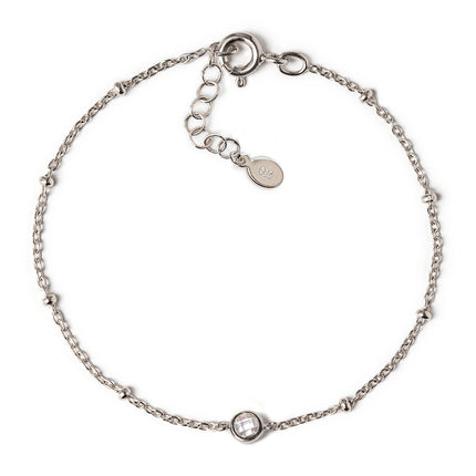 Crystal Bead Chain Bracelet
