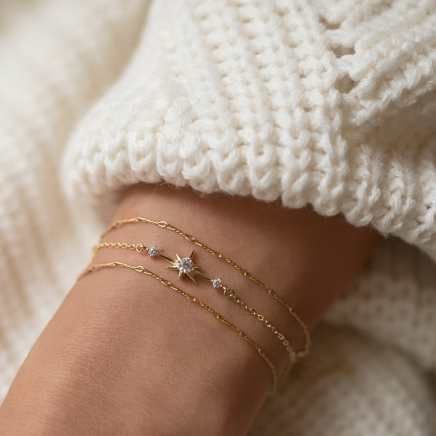 Dainty Gold Star Bracelet, Star Jewelry