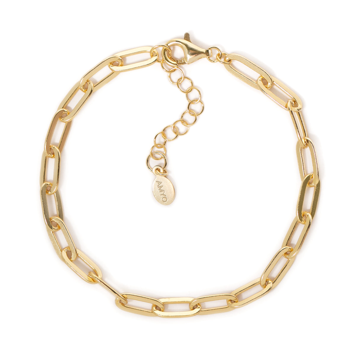 Thick Gold Link Chain Bracelet