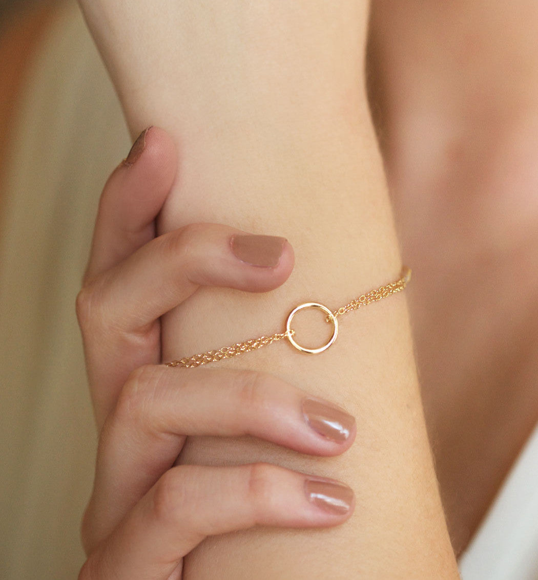 Eternity Circle Bracelet, Bracelets - AMY O. Jewelry