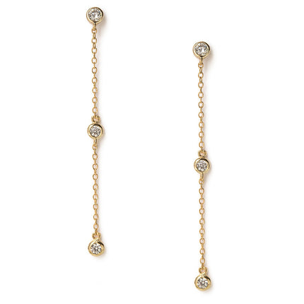 Dainty Crystal Drop Earrings