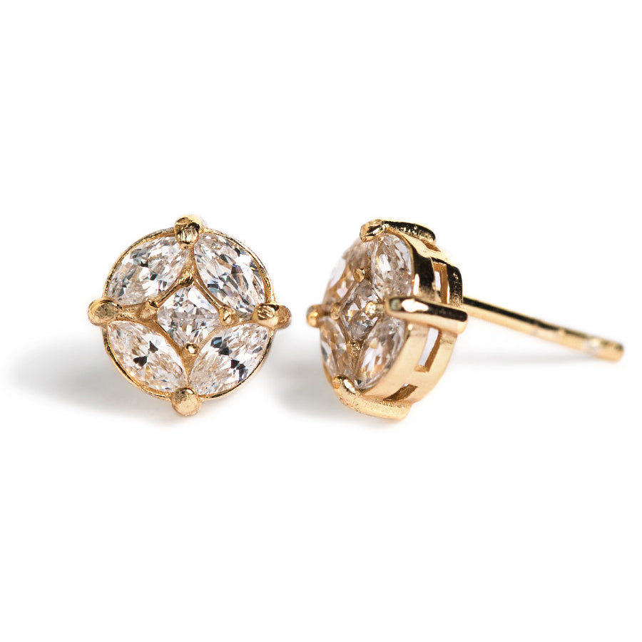 Deco Stud Earrings, Earrings - AMY O. Jewelry
