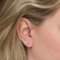 Ray Ear Climber Earrings, Earrings - AMY O. Jewelry