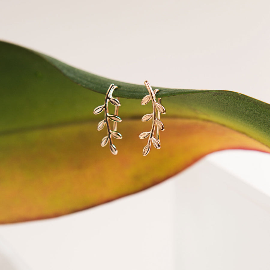 Leaf Ear Climber Earrings