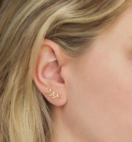 Leuce Gold Earrings, Earrings - AMY O. Jewelry