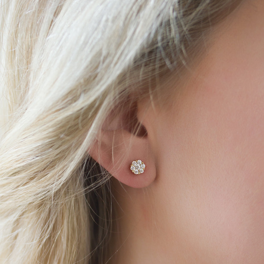 Belle Pavé Dainty Studs, Earrings - AMY O. Jewelry