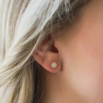 Pave Dome Stud Earrings