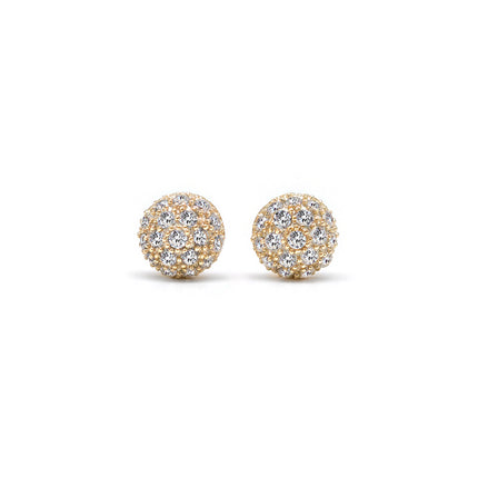 Pavé Dome Stud Earrings