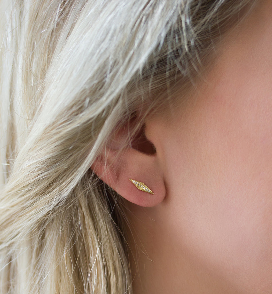 Angulo Gold Earrings, Earrings - AMY O. Jewelry