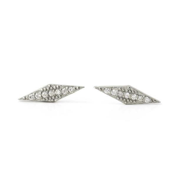 Angulo Dainty Stud Earrings, Earrings - AMY O. Jewelry