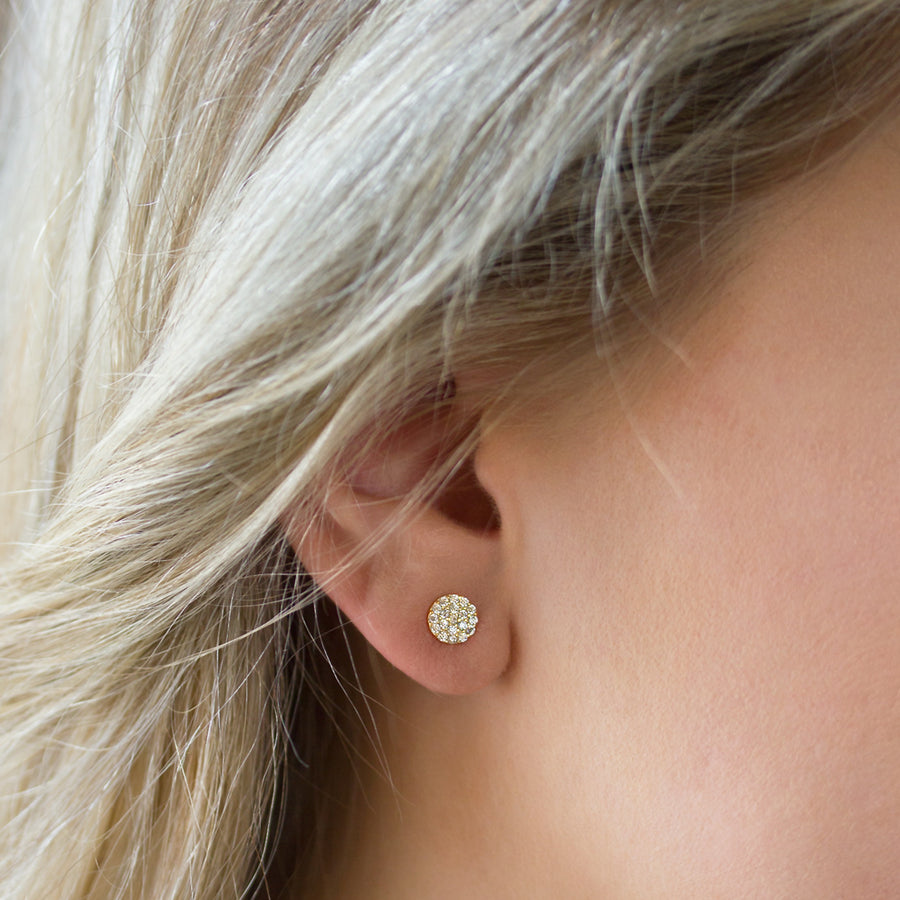 Lola Petite Pavé Stud Earrings, Earrings - AMY O. Jewelry