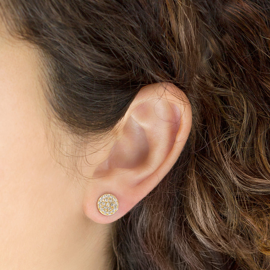 Lola Pavé Stud Earrings, Earrings - AMY O. Jewelry