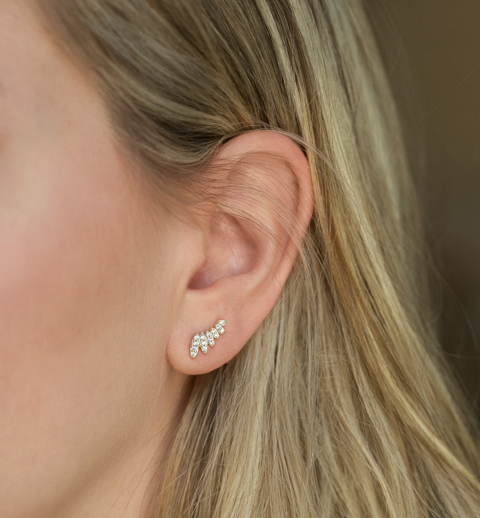 Gold Climber Earrings - AMY O. Jewelry