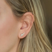 Wing Ear Climber Earrings, Earrings - AMY O. Jewelry