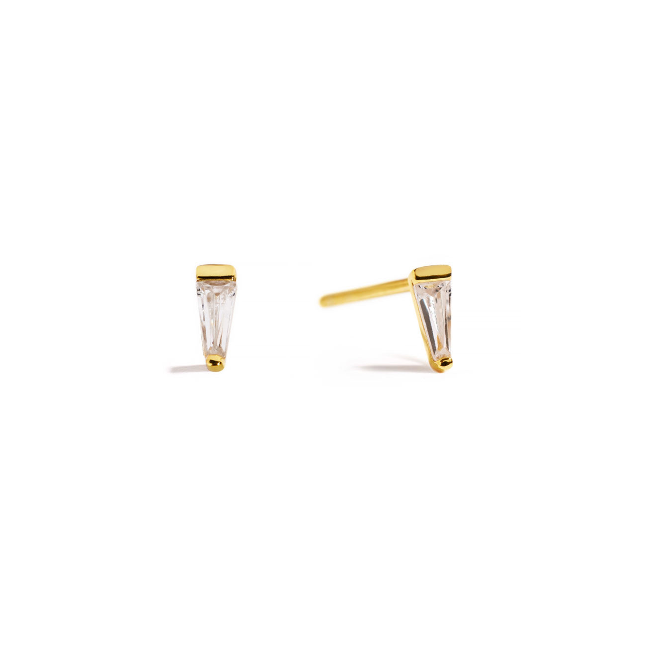 Tiny Tapered Baguette Studs