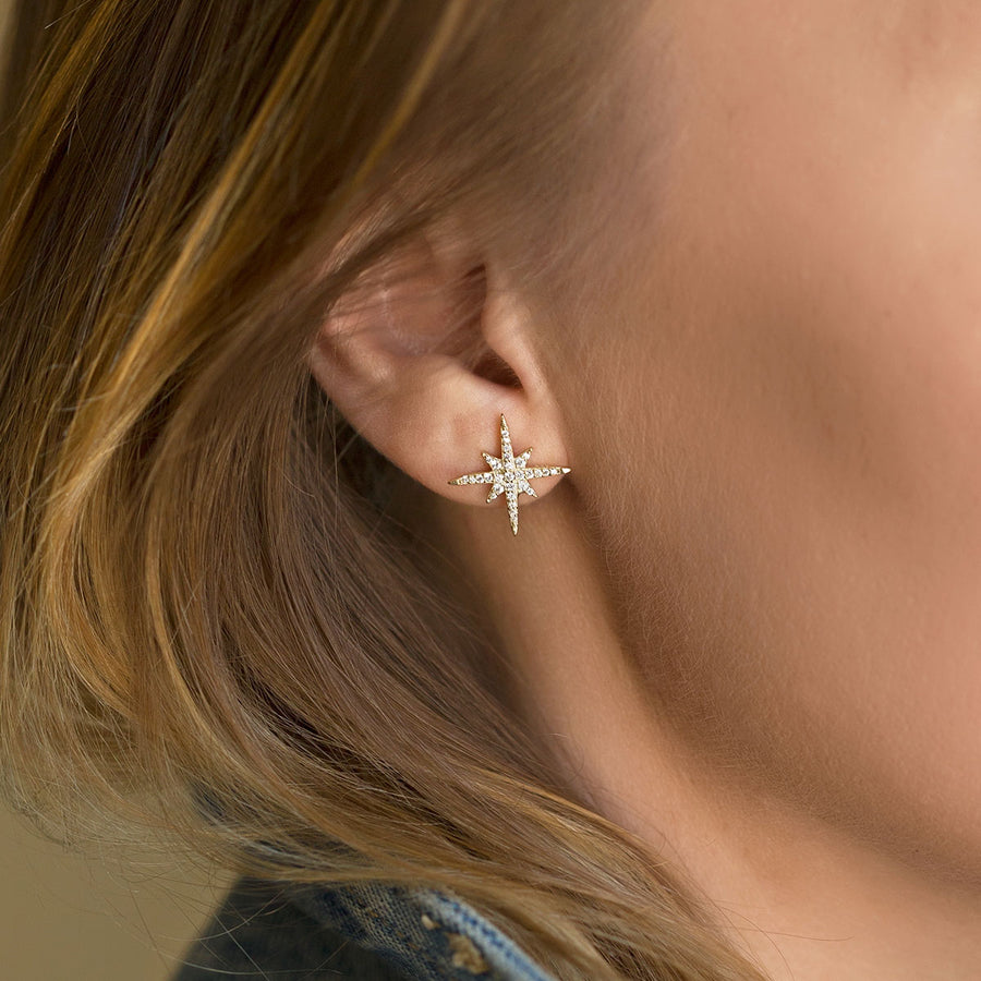 Celeste Star Burst Stud Earrings