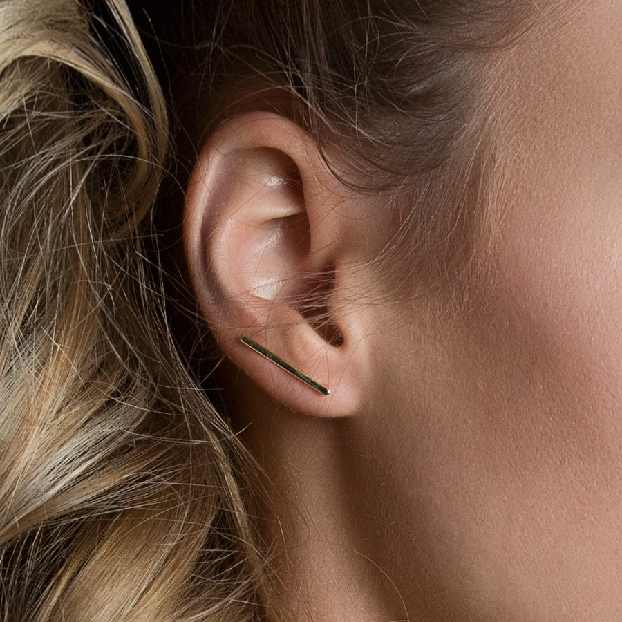 Bar Ear Climber Earrings, Earrings - AMY O. Jewelry