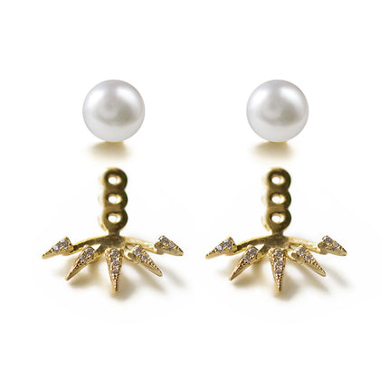 Pearl Spike Ear Jacket