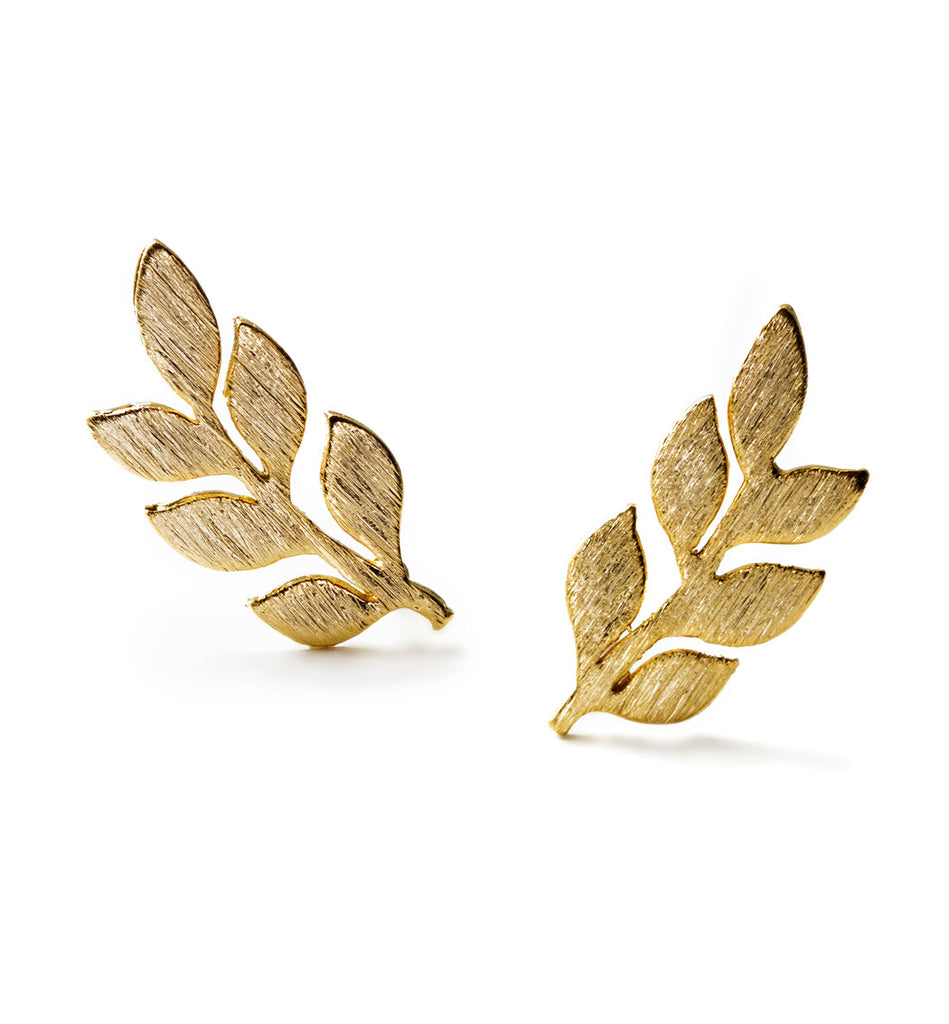 Gaia Gold Leaf Earrings