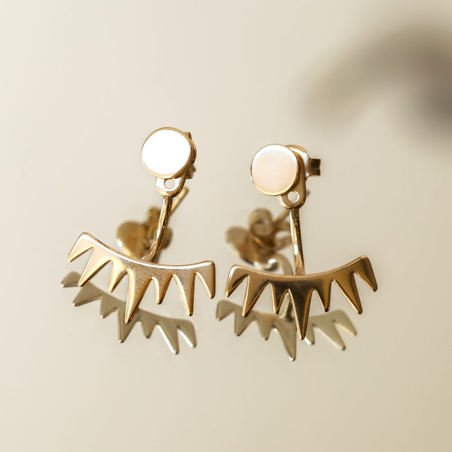 Spike Ear Jacket, Earrings - AMY O. Jewelry