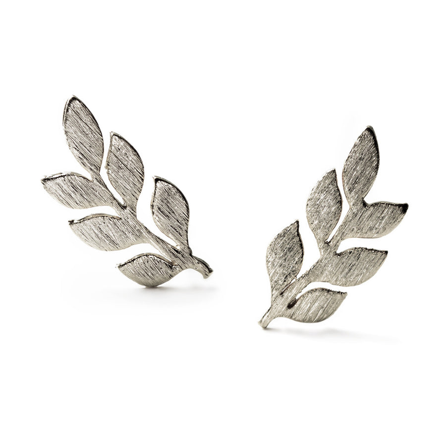 Gaia Leaf Earrings, Earrings - AMY O. Jewelry