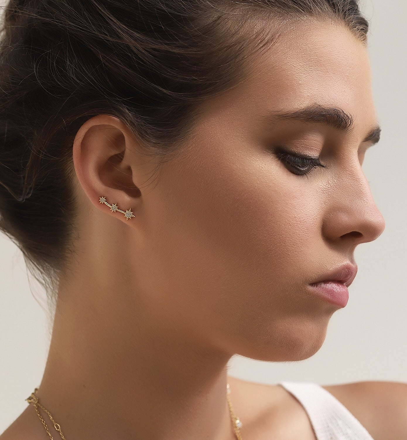 Shooting Star Ear Climber Earrings, Earrings - AMY O. Jewelry