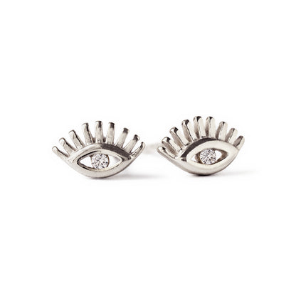Hamsa Eye Stud Earrings