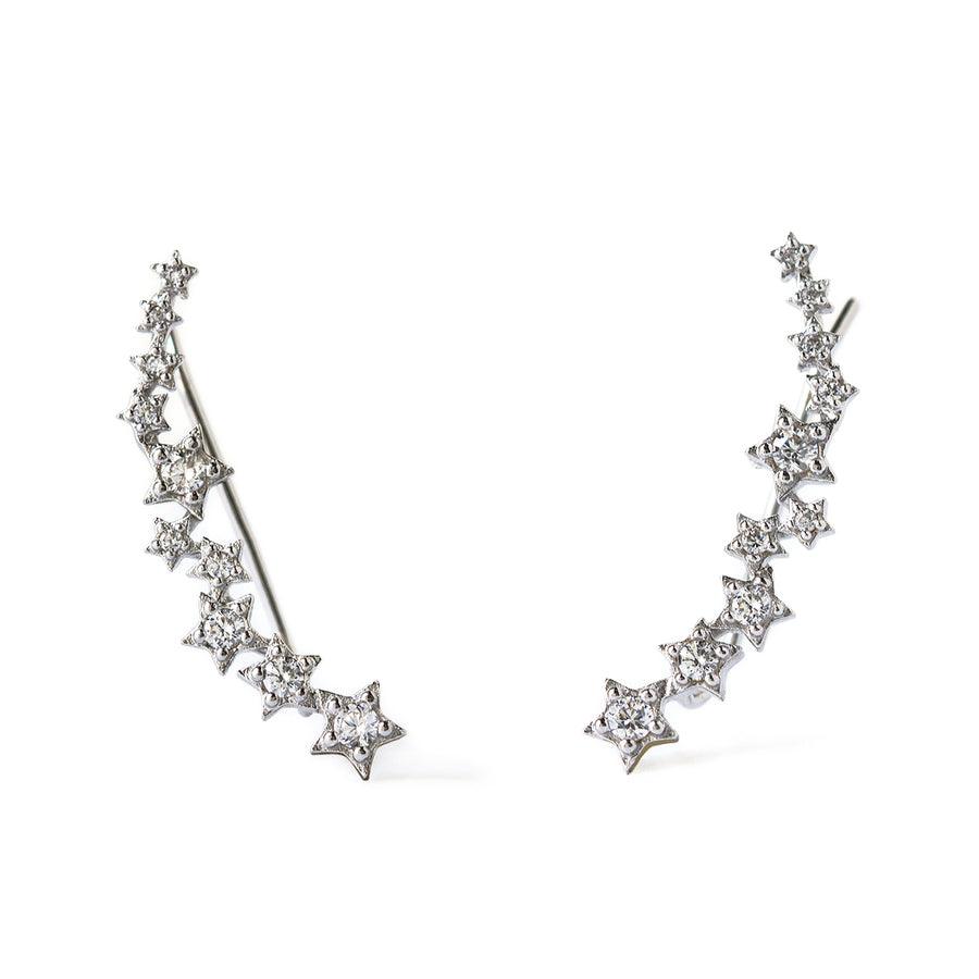 Stardust Ear Climber Earrings, Earrings - AMY O. Jewelry