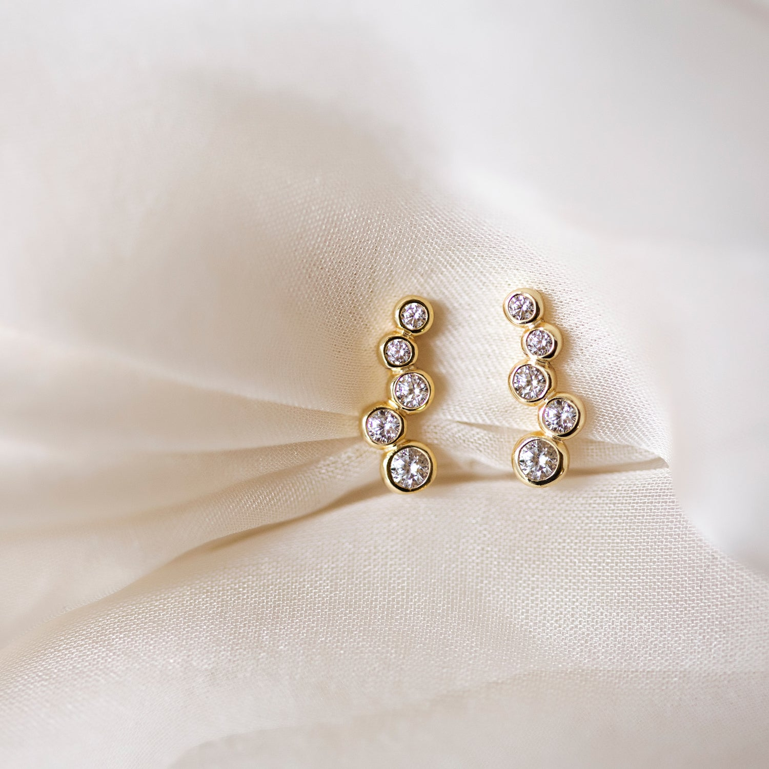 Pave Cluster Ear Climbers, Earrings - AMY O. Jewelry