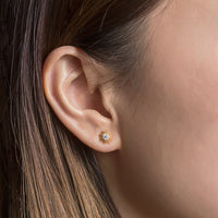 Celeste Star Dainty Studs, Earrings - AMY O. Jewelry